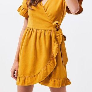 Pacsun LA Hearts Ruffle Wrap Around Dress